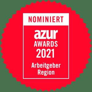 azur Award Arbeitgeber Region 2021 Nominierung